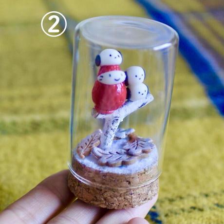 シマエナガちゃん 円筒ガラスS オブジェ