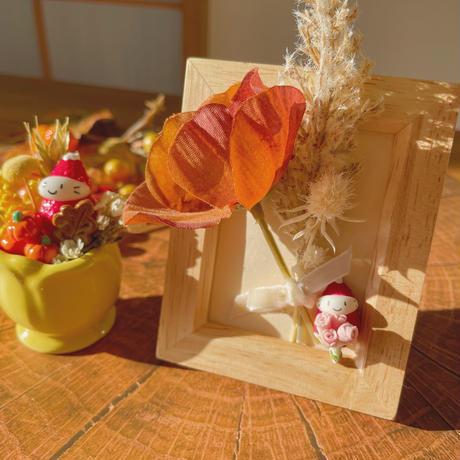 花束の苺ぼうや ミニフレーム 秋のお飾り