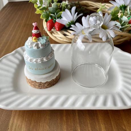 パステルカラーの2段ケーキのドーム|オブジェ