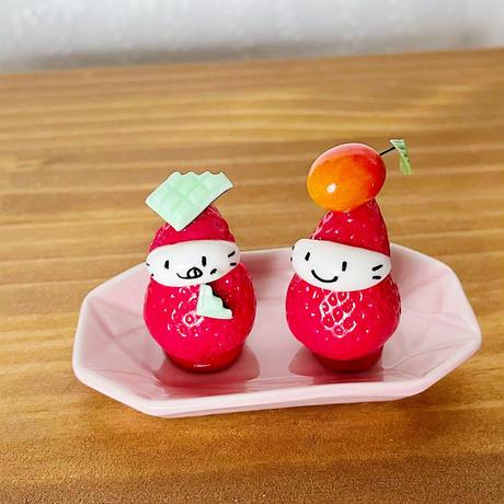 チョコミントの苺ぼうや|オブジェ