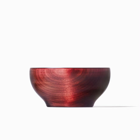 めぐる・日月(拭き漆:赤) <単品・小>