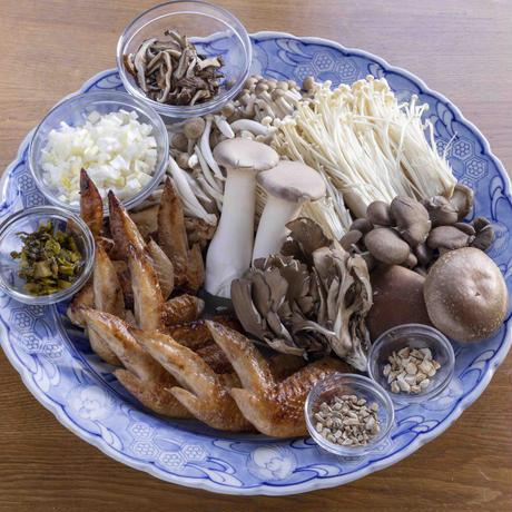 楊貴妃鶏とたっぷりきのこのアマビエ鍋(薬膳鍋)  2〜3人前