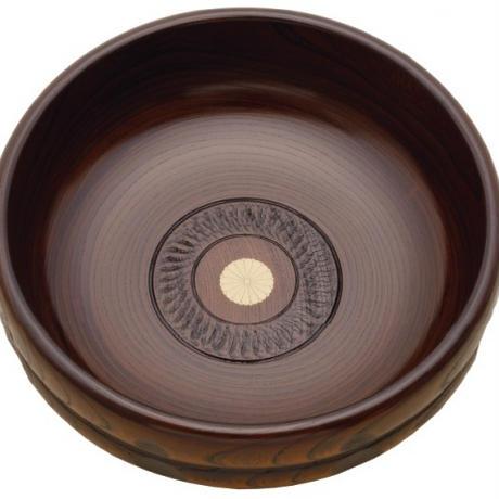 宮常 欅ひさご彫盛鉢(7寸)