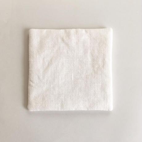 コースター ホワイトリネン