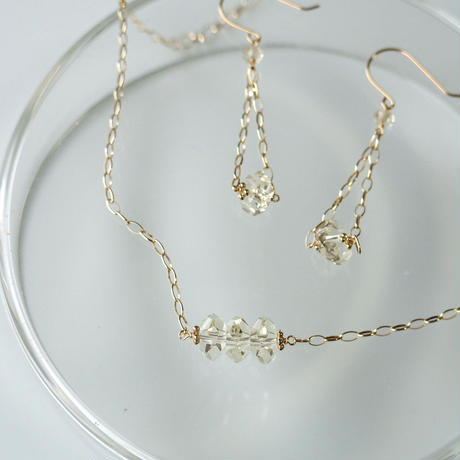 range Necklace -Lemon Quartz