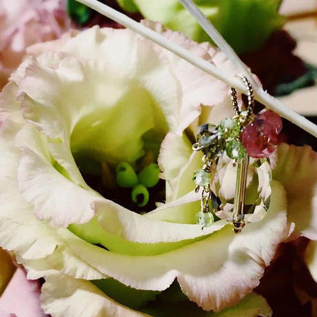 "bouquet pierce & earrings ""Eustoma"""