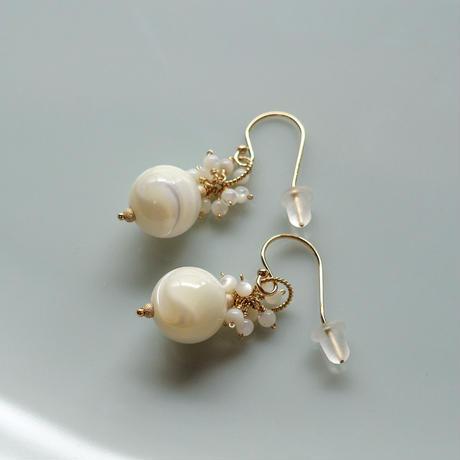Bubble Pierce & Earrings -Mother of Pearl