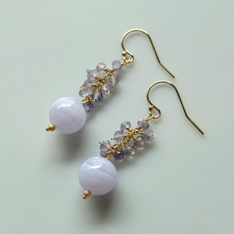 Bubble Pierce & Earrings -Bluelace