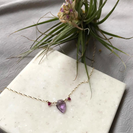 Ametrine, Ruby & K10YG  Necklace