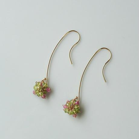 Hydrangea Pierced Earrings -Antique