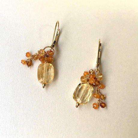 "bouquet pierce & earrings ""Soleil"""