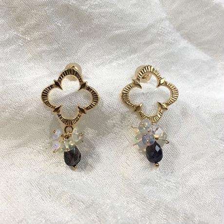 Petaroid short pierce Opal and Iolite [SV, GP]