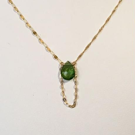 PELO Green Tourmaline K10 Necklace