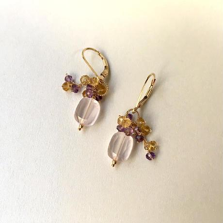 """bouquet pierce & earrings """"Port Autumn"""""""