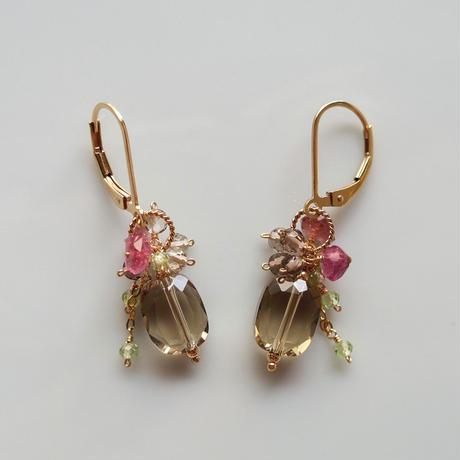 Bouquet Pierce & Earrings -Eustoma