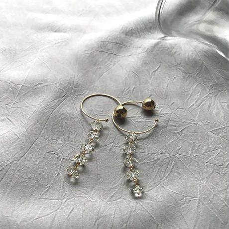 Hoop Pierced Earrings - Lemon Quartz