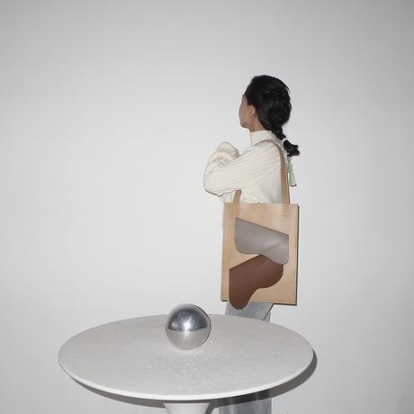 kotohayokozawa leather tote bag