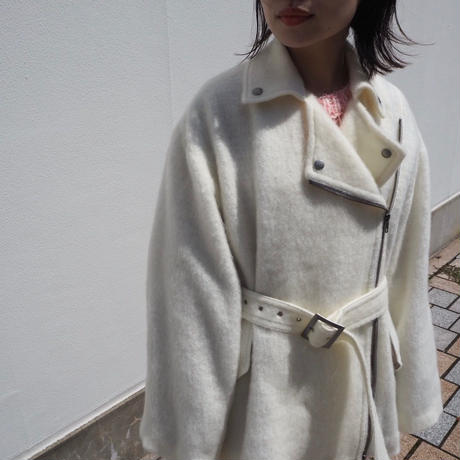 SHIROMA  oversize shaggy riders jacket