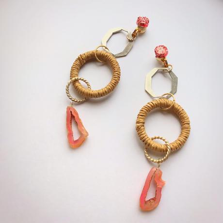 pono'i Raffia  earring(beige)(lavender)