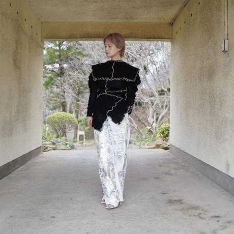 naokitomizuka -silver prints pants-
