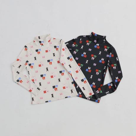 MINJUKIM print jersey top