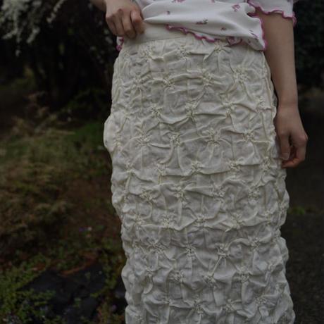 MINJUKIM smocking flower skirt