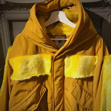 molliolli eco fur  mountain parka(yellows)