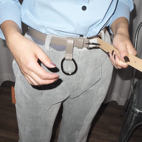 kotohayokozawa leather belt