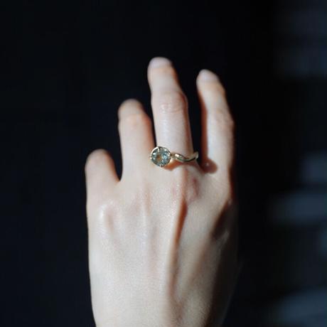 Atlica  hematite in quartz + ruby ring