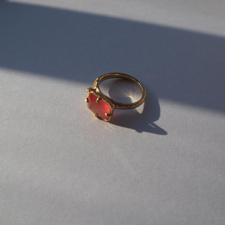 Atlica rhodochrosite × diamond ring