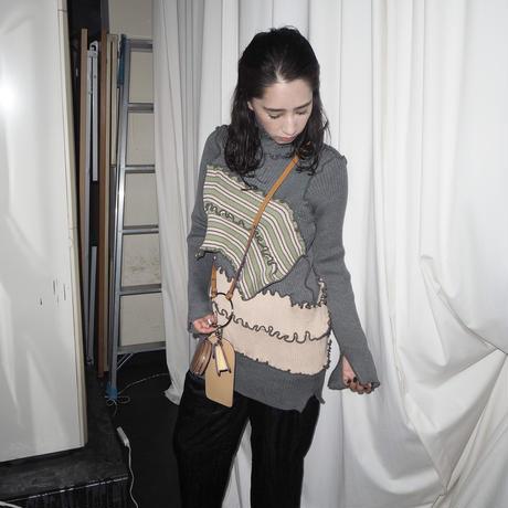 kotohayokozawa semi long rib knit