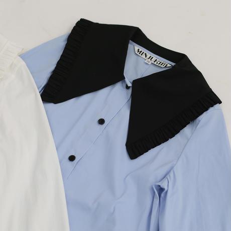MINJUKIM  big ruffle collar blouse