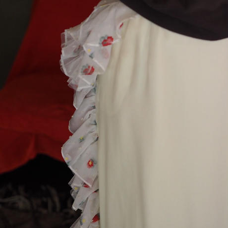 SIIILON flower frill skirt