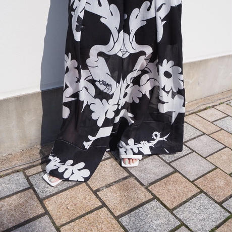 MINJUKIM tuck detail wide pants