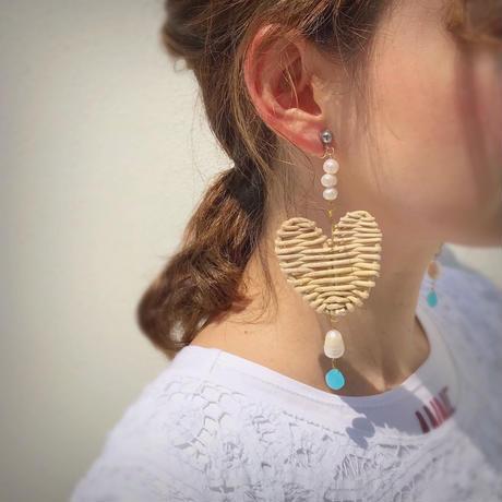 pono'i heart pierce & earring