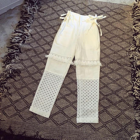 DECO depuis 1985 lace seam high waist pants
