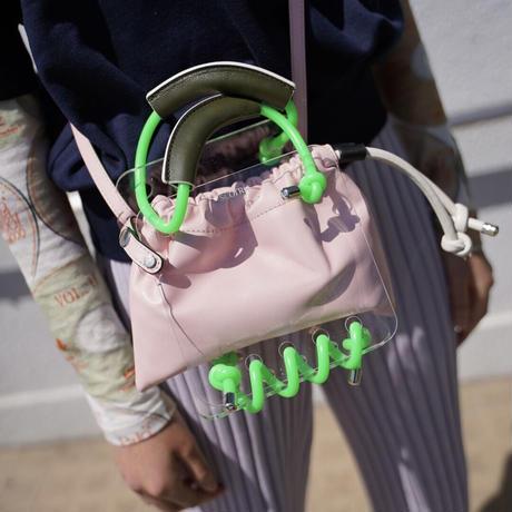 SCOTRIA - BERG BAG W/STRAP - pink × green