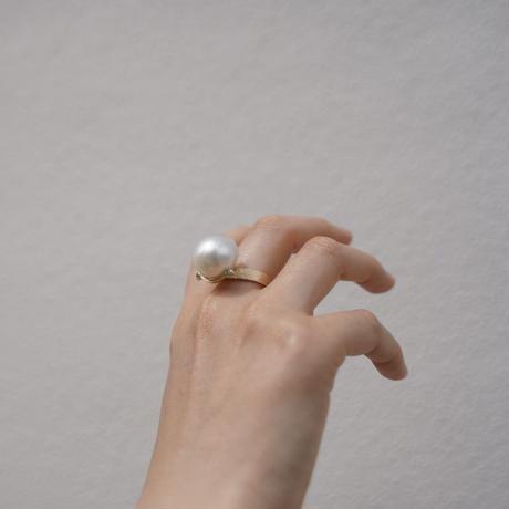 Atlica  pearl + tourmaline ring