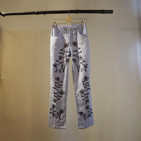 accidenteconflores linen pants