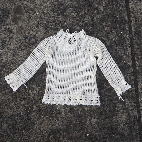 ACCIDENTE CON FLORES - ORO - hand crocheted top