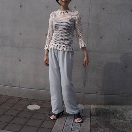 ACCIDENTE CON FLORES - ORO - hand crocheted top