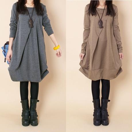 大人かわいい 裾バルーン ワンピース YMSW4903