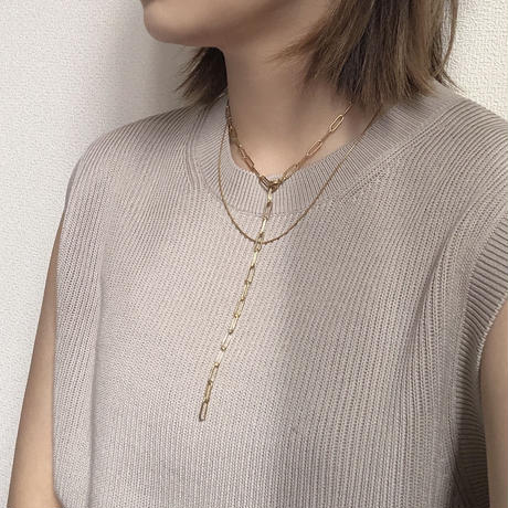 GOLD OBAL chain necklace
