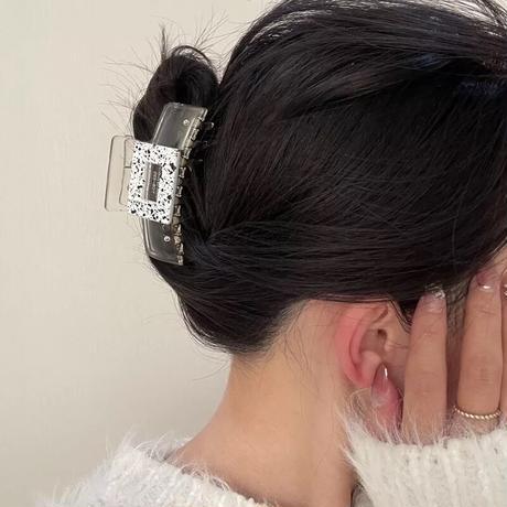Acryl square hair clip