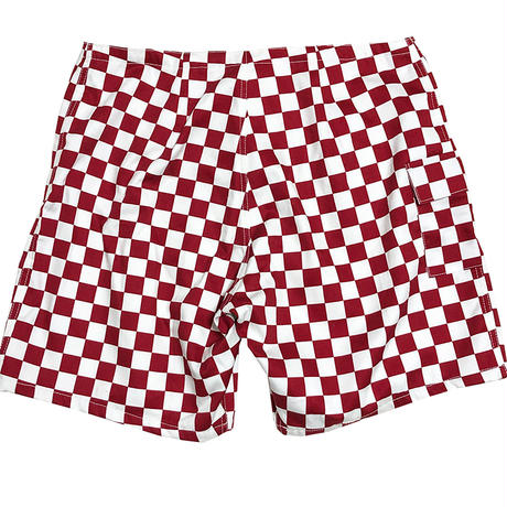 SIDE SLIP SHORTS  / RED CHECKER
