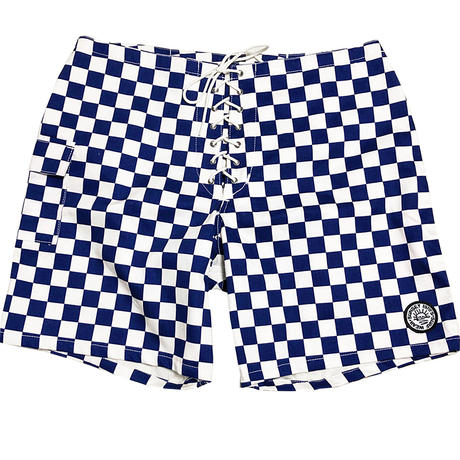 SIDE SLIP SHORT / NAVY CHECKER