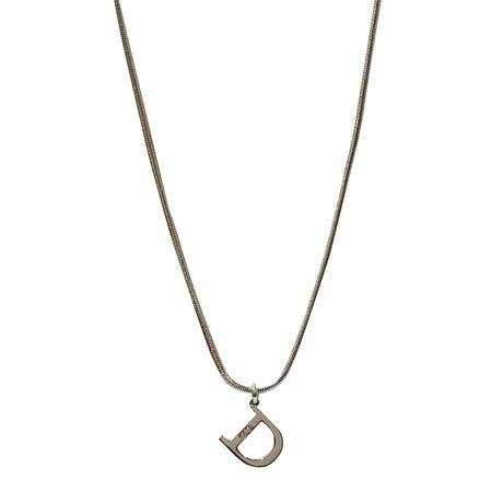 "DIOR ""D"" logo necklace"