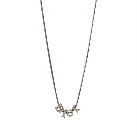 DIOR logo edge chain necklace