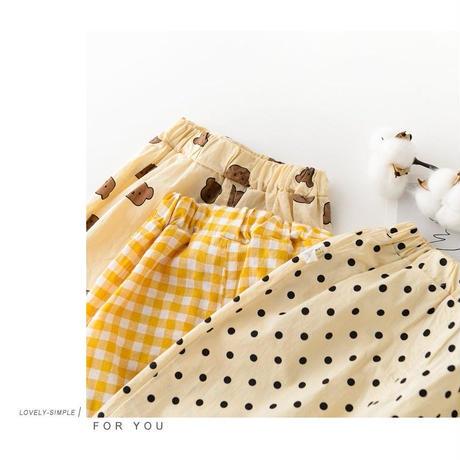 即納あり☆3color 前ボタンパジャマ(1506)