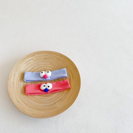 2color きょろ目長袖細ボーダーロンパース(1706)